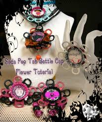 bottle cap necklaces recycled jewelry how to make a soda pop tab flower with recycled