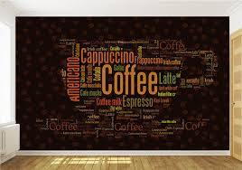 coffee letters wallpaper custom 3d wall mural fashion photo