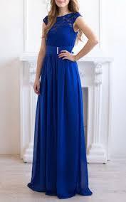 royal long length bridesmaid dress long blue dresses for