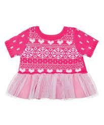 clothes for build a fuchsia fair isle dress build a workshop teddy