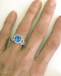 blue topaz engagement rings checkerboard faceted swiss blue topaz and diamond halo engagement