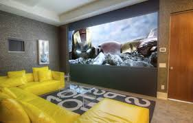 home theater room decor open home theater combined in living room design idea small home