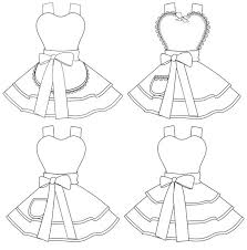 design your own apron 4 coloring pages digital by dottiesdiner