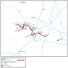 Map Of Austin Area by Austin Western Railroad Awrr Watco Companies
