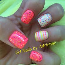 light elegance neon paint confetti glitter gel nails