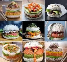 cuisiner sushi sushi hamburger j adore cuisiner hamburgers food