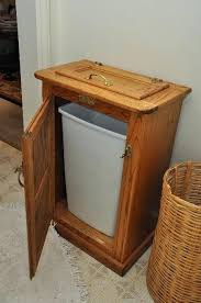 trash cans for kitchen cabinets wood trash can wooden cans for kitchen or tilt out cover dreamshine