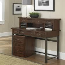 furniture dark brown corner wood computer desk with cpu racks