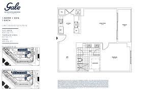 gale fort lauderdale pre construction 1 bedroom floor plan