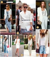 7 ways to wear a white blazer