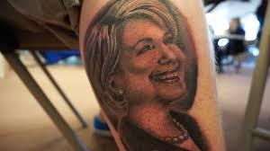 tattoo portraits on arm who needs a u0027hillary u0027 campaign sticker when you have a leg tattoo