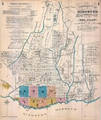Jamaica Map Kingston Jamaica Detailed Insurance Maps 1894 Lead Page