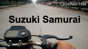 riding old suzuki samurai 2 stroke power exhaust note youtube