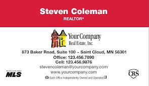 Merrill Business Cards Merrill 4 Marketing U Business Card Basics For Real Estate Agents