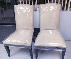 dining room chair seat covers plastic