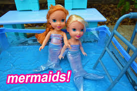 elsa and anna toddlers swim as mermaids toddler anna and elsa
