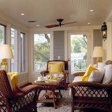 wicker coffee table porch traditional with beadboard ceiling blue