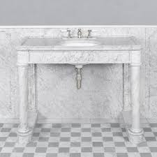 carrara marble console sink sophisticated marble console sink on ranges lefroy brooks home