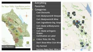 Napa Valley Winery Map An App That Shows You Napa Valley U0027s Organic Wines And Wineries