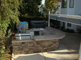 Outdoor Kitchen With Concrete Countertops 8 Steps With Picture by Outdoor Kitchens Steel Studs Or Concrete Blocks Yard Ideas