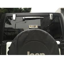 jeep wrangler 4 door silver 2pcs silver chrome upper rear glass door tailgate hinge cover trim