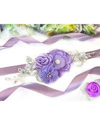 wedding sashes don t miss this deal purple flower sash bridal sashes maternity