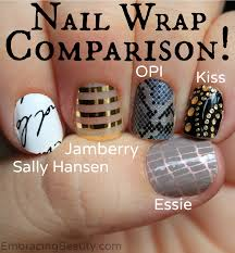 nail wraps compared sally hansen jamberry more