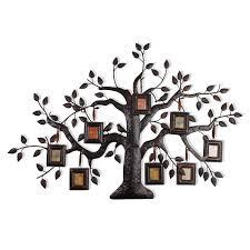 adeco brown black decorative collage family tree bronze iron metal