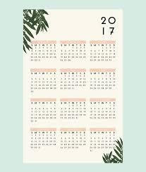 botanical calendars 13 modern wall calendars to get you organized for 2017 contemporist