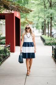 elizabeth mckay navy u0026 white striped dress u2014 bows u0026 sequins
