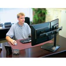 Desk For Dual Monitor Setup Ergotron Ds100 Dual Monitor Desk Stand Black Ln13001 33 322 In