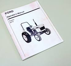 ford new holland 3415 tractor owners operators manual maintenance
