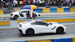 corvette vs audi r8 corvette c7 stingray vs audi r8 v10 arrancones pegaso octubre 25