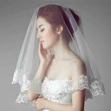 bridal veil noble simple white lace veils 1 5m bridal headdress veils 2016 new