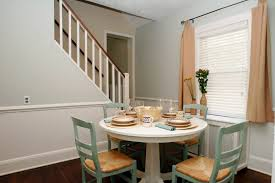 Painting Dining Room With Chair Rail Interior Design Technique Using Vertical Space To Expand Apartment
