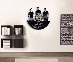 amazon com supernatural decor record clock wall decoration modern