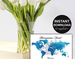 wedding registry travel fund honeymoon fund wedding insert card gift registry idea