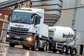 mercedes truck dealers uk concrete renews truck fleet