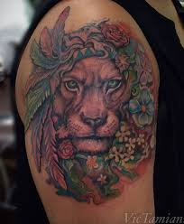 lion girly tattoo lion publications