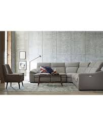 Fabric And Leather Sofas Kelsee Fabric And Leather Power Reclining Sectional Sofa