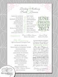 the 25 best wedding program template word ideas on pinterest