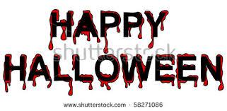 inscription happy halloween red streaks blood stock vector
