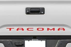toyota tacoma tailgate toyota tacoma 2016 2017 vinyl decal wrap kit tailgate letter