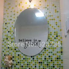 Shop Bathroom Mirrors by Bathroom Mirror Decals Promotion Shop For Promotional Bathroom