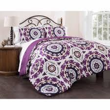 Medallion Bedding East End Living Suzani Royal Lilac 3 Piece Bedding Comforter Set