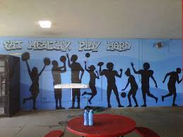 30 best gym mural images on pinterest mural ideas gym and a healthy message mural for westchester high school