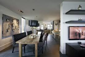 interior rustic kitchen design with modern mixed vintage furniture