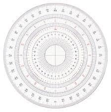 amazon com dorapasu full circle protractor acrylic 24cm 16514