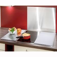 protege plan de travail cuisine wenko set de 2 protèges plaques vitrocéramiques inox accessoire