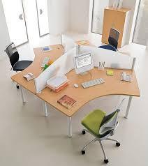 bureau poste de travail marguerite 3 postes 120